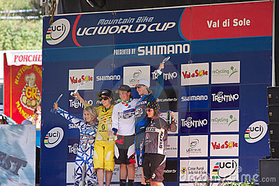 Downhill 2011 women champion Editorial Stock Photo