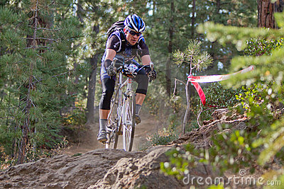 Downhill Cyclocross Bike Race Editorial Stock Image