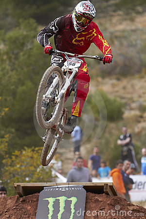Downhill jump Editorial Stock Photo
