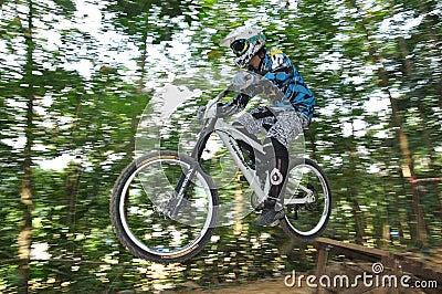 Downhill Mountain Bike Race Editorial Photo