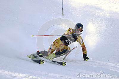 Downhill skiing Editorial Image