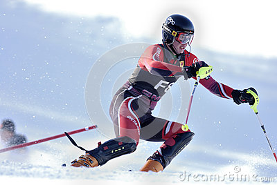 Downhill skiing Editorial Photo