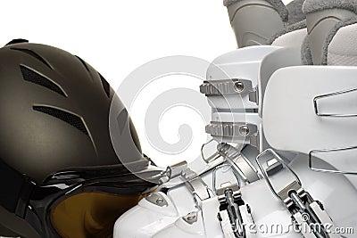 Downhill skiing gear