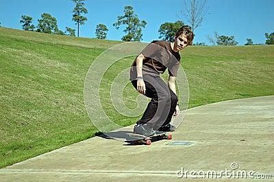 Downhill Teen Skater