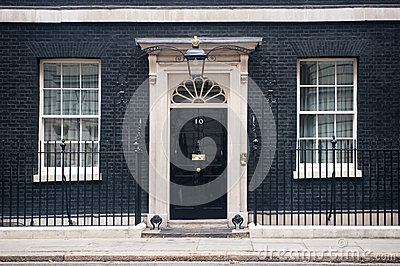 10 Downing Street in London Editorial Photography