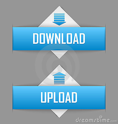 Free Download And Upload Buttons Royalty Free Stock Images - 23995769