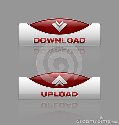 Free Download And Upload Buttons Royalty Free Stock Photos - 26510688