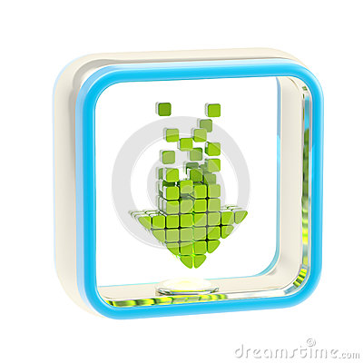 Download application icon emblem isolated