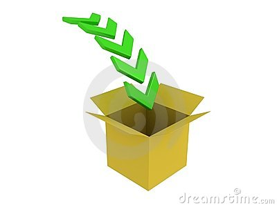 Download box with green arrows