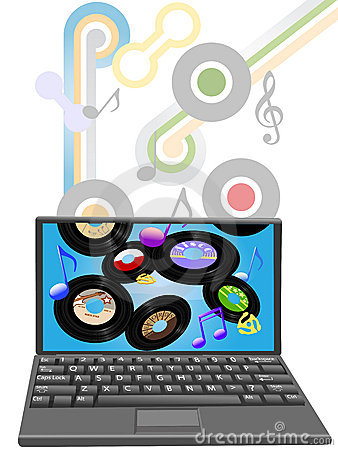 Download oldies music to laptop computer
