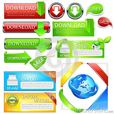 Download sales icon set