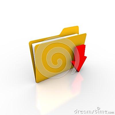 Download or saving files into folder