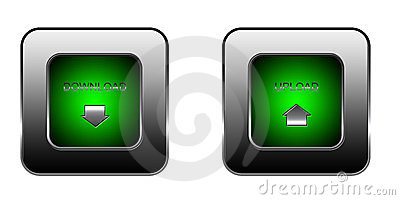 Download and upload button set for web site