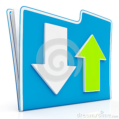 Downloading and Uploading Data Icon
