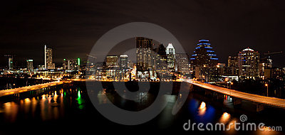 Downtown Austin Texas Cityscape at Night