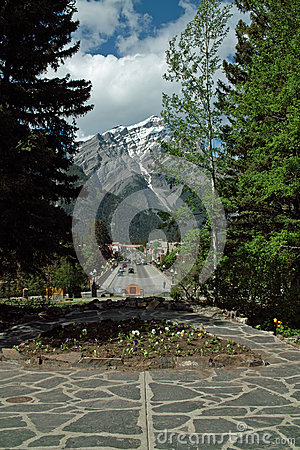 Downtown Banff Alberta Canada.