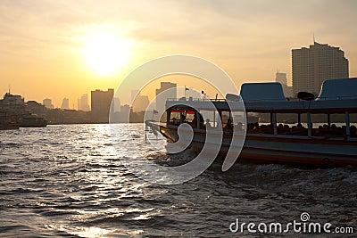 Downtown Bangkok Chao Phraya River Boat