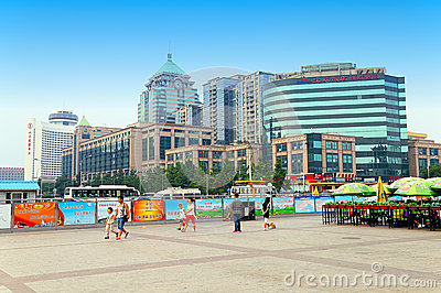 Downtown beijing, china Editorial Stock Image