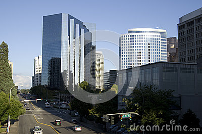 Downtown Bellevue Editorial Image