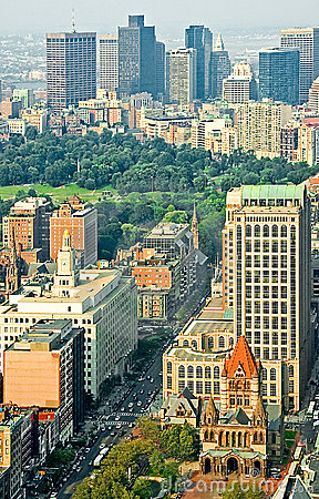 Downtown Boston Aerial View