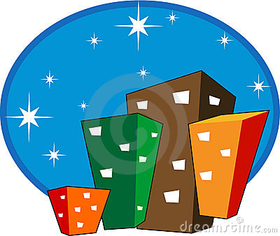 Downtown Buildings Icon Royalty Free Stock Photography - Image: 17553717