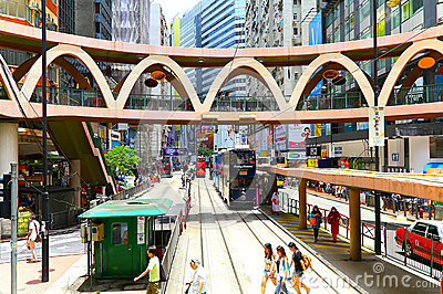 Downtown causeway bay, hong kong Editorial Image