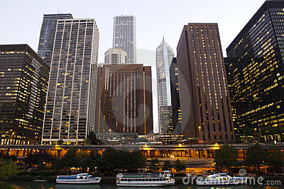Downtown Chicago Editorial Stock Image