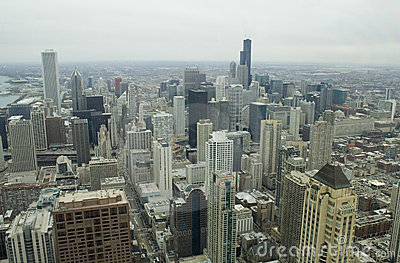 Downtown Chicago from 92 stories - horizontal
