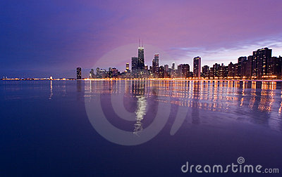 Downtown Chicago from Lake Mic