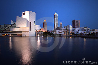 Downtown Cleveland Ohio SKYLINE Night View