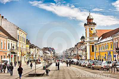 Downtown Cluj Napoca Editorial Stock Image