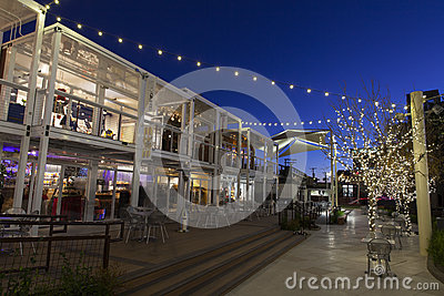Downtown Container Park in Las Vegas, NV on December 10, 2013 Editorial Image