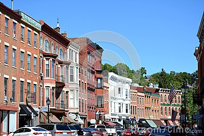 Downtown Galena Illinois Editorial Photography