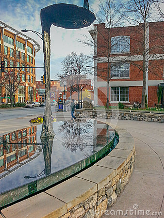 Downtown Greenville South Carolina SC Editorial Stock Photo