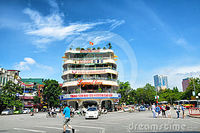 Downtown Hanoi Editorial Photo