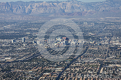 Downtown Las Vegas Editorial Aerial Editorial Photography