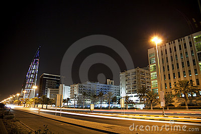 Downtown Manama at Night, Bahrain