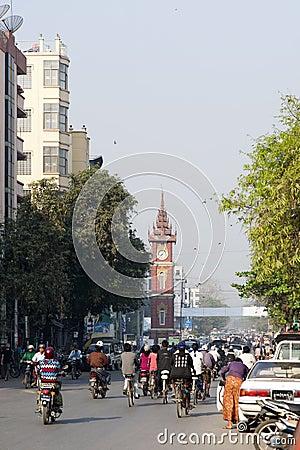 Downtown Mandalay Editorial Stock Image