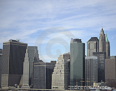 Downtown manhattan skyline