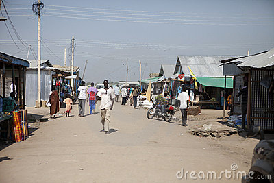 Downtown market, Bor Sudan Editorial Image