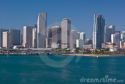 Downtown Miami Bayfront Condo and Office Buildings