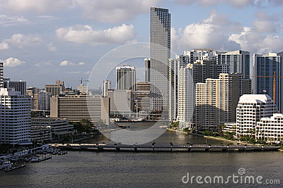 Downtown Miami Editorial Aerial Editorial Stock Image