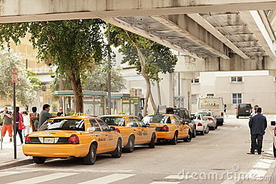 Downtown miami Taxi Stand Editorial Photo