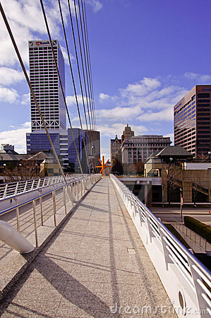 Downtown Milwaukee from Calatrava Exhibit Editorial Image