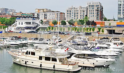 Downtown Montreal Waterfront in Quebec, Canada