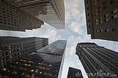 Downtown New York Financial District skyline