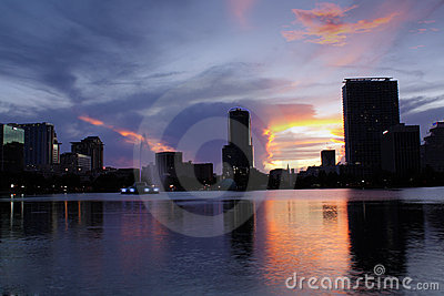 Downtown Orlando, Florida, at Dusk (1)