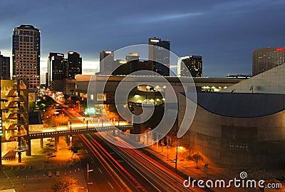 Downtown Phoenix, AZ at dusk