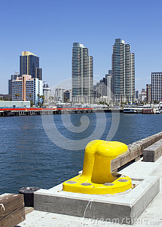 Downtown San Diego From The Broadway Harbor Pier