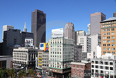 Downtown San Francisco skyscrapers Editorial Stock Photo
